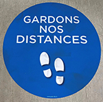 Marquage au sol / stickers : Gardons nos distances